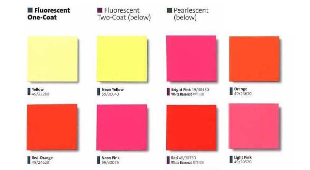 Fluorescent Colors